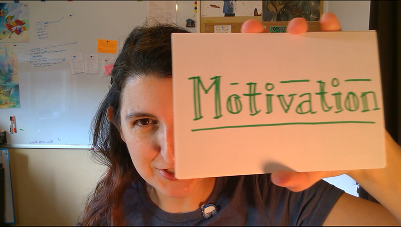video thumbnail of BogusRed holding Motivation card